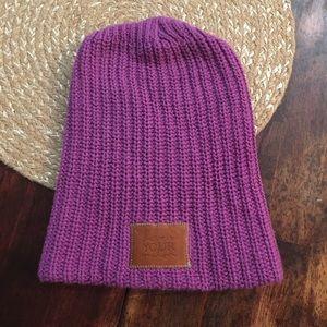 Love your Melon Purple Knit Beanie